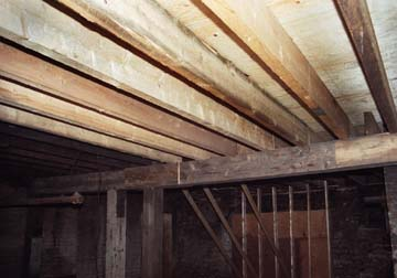 Repairs to the basement and main floor above