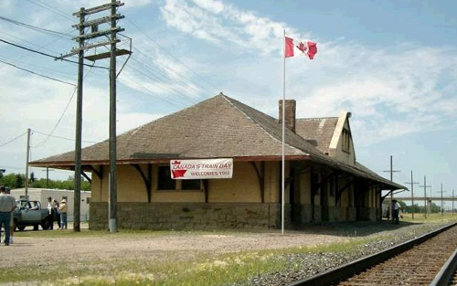 Canada's Train Day at the Portage la Prairie CPR Station